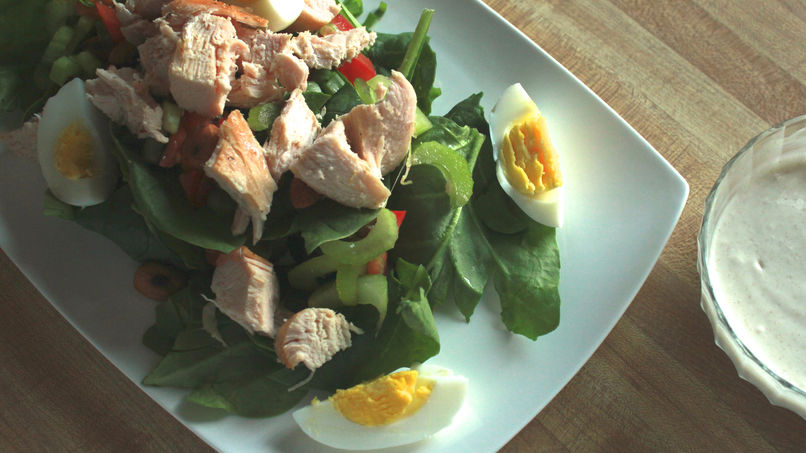 Chicken Salad with Spinach