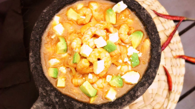 Mexican Molcajete Shrimp