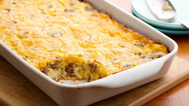 Hash brown breakfast casserole recipe bettycrocker hash brown breakfast casserole ccuart Gallery