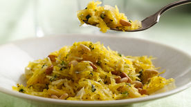 Sauteed Spaghetti Squash with Garlic and Herbs
