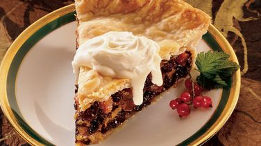 Brandied Winter Fruit Pie with Hard Sauce