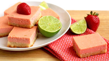 Strawberry Margarita Cheesecake Bars
