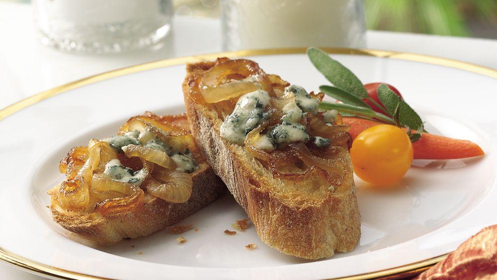 Gorgonzola and Caramelized Onion Appetizer