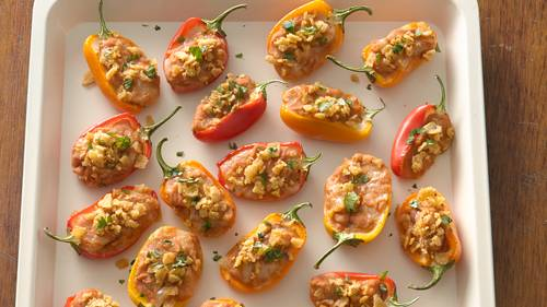 Taco Stuffed Mini Sweet Peppers Recipe