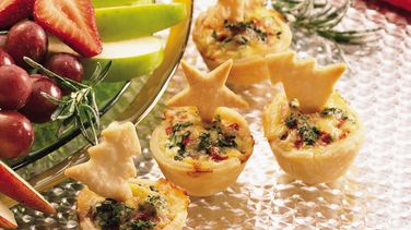 Gouda and Walnut Tartlets