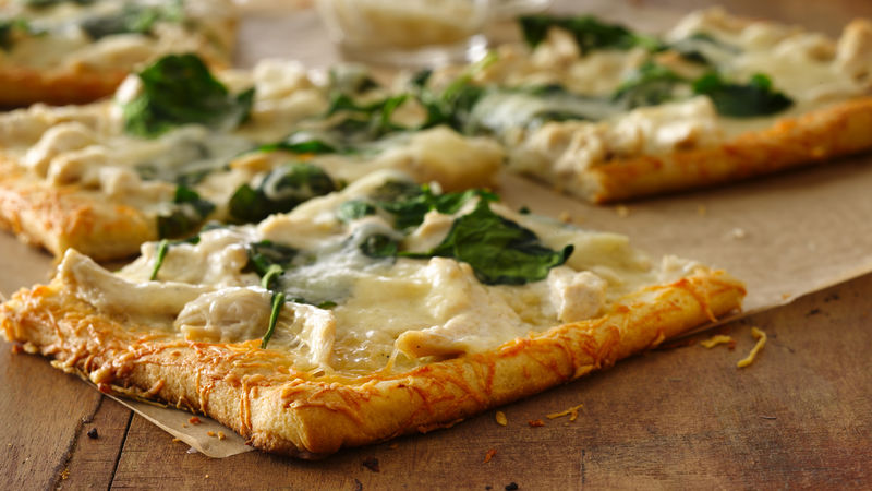 Parmesan Crusted Chicken Alfredo Pizza Recipe Pillsbury Com