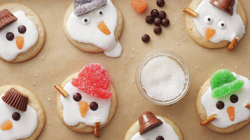 Super-Easy Melted Snowman Cookies