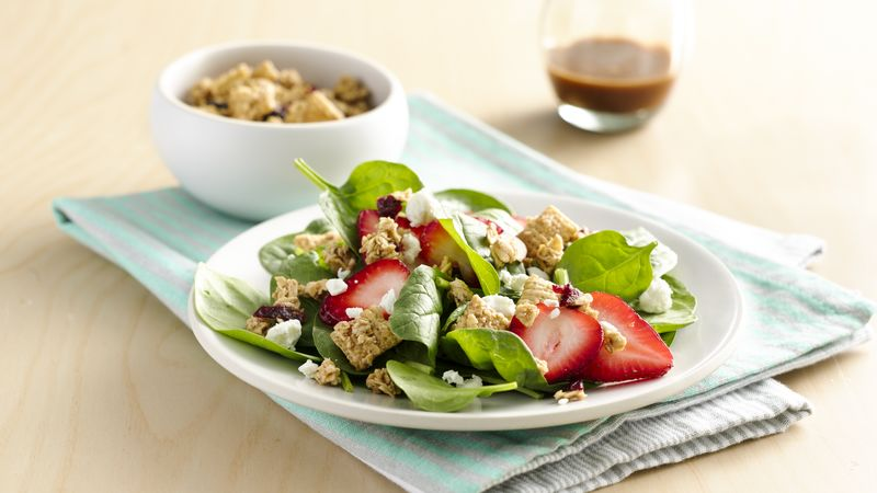 Spinach-Strawberry Gluten-Free Granola Salad