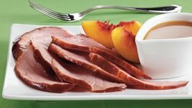 Slow-Cooker Peach-Glazed Ham