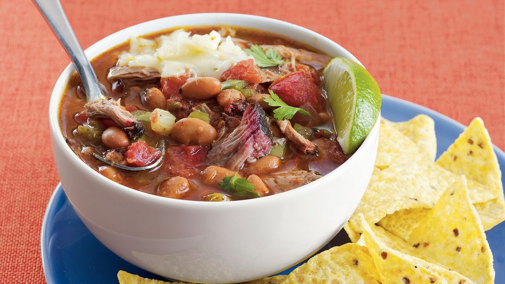 Smoky Pork and Pinto Bean Chili recipe from Pillsbury.com
