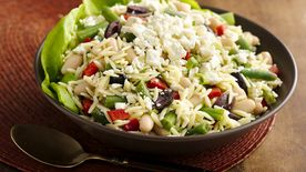 Lemony Orzo Two Bean Salad