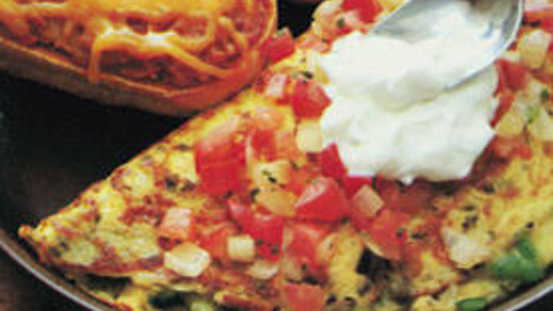 Mexican Omelet with Chilies