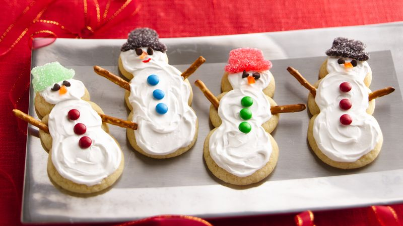 sugar cookie snowmen - How To Decorate Christmas Cookies