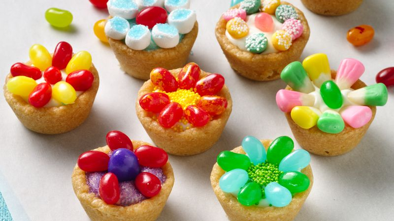 Jelly Bean Flower Cookie Cups