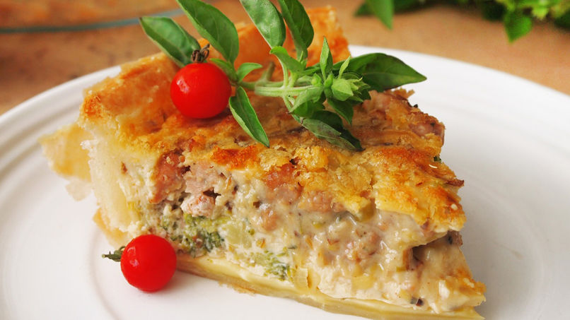 Turkey Chorizo Quiche