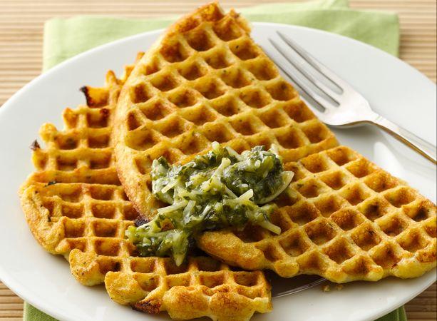 Pesto Wafflecakes