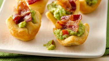 3-Ingredient Bacon-Guacamole Crescent Cups