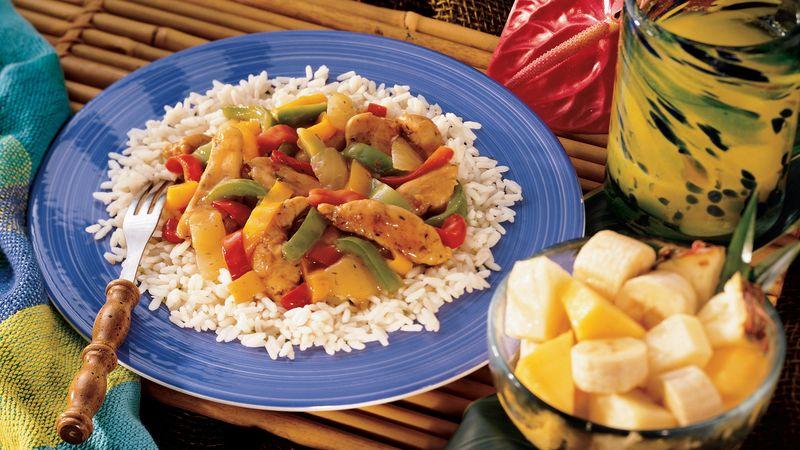Jerk-Seasoned Chicken and Pepper Sauté