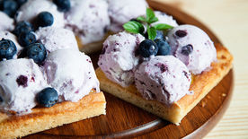 Lemon-Blueberry Frozen Yogurt Shortcake