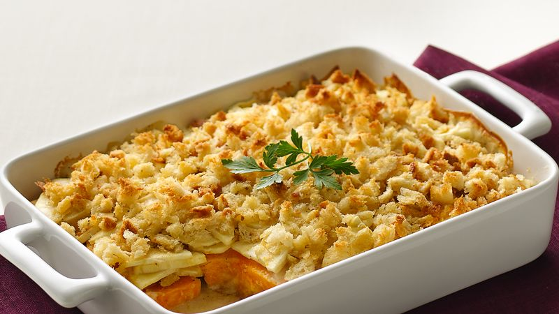 Squash and Parsnip Gratin