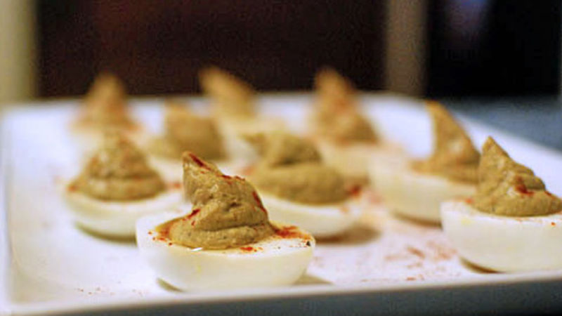 Masala Spiced Deviled Eggs