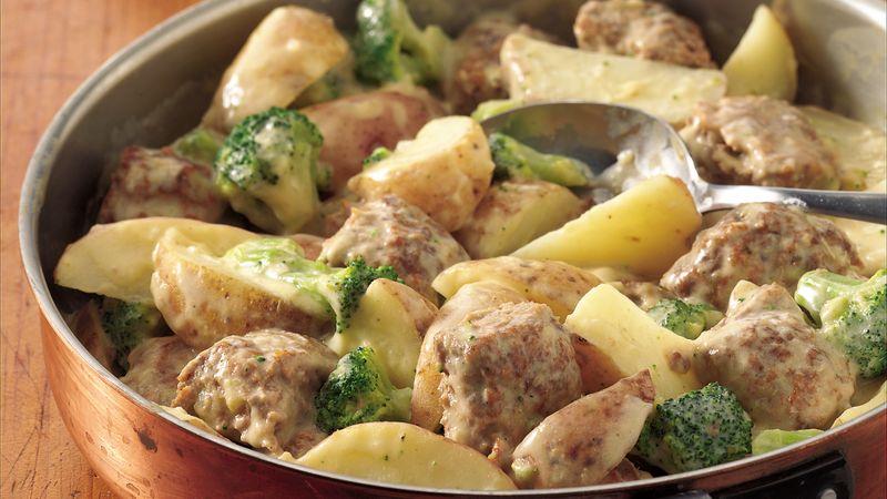 Creamy Meatballs and Potatoes