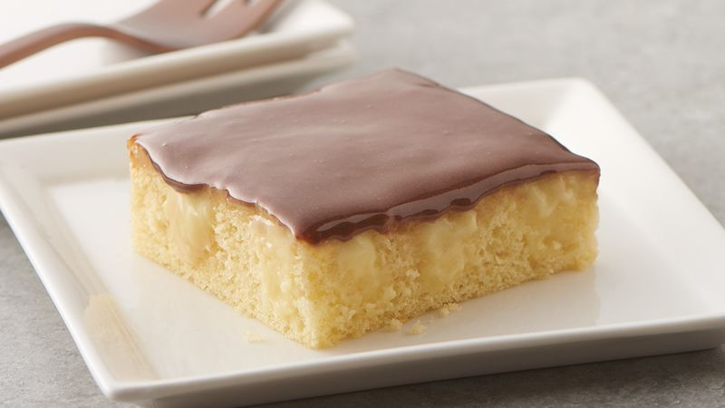 Boston Cream Pie Poke Sheet Cake