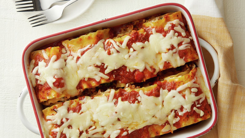 Freezer-Friendly Sausage Lasagna Rolls