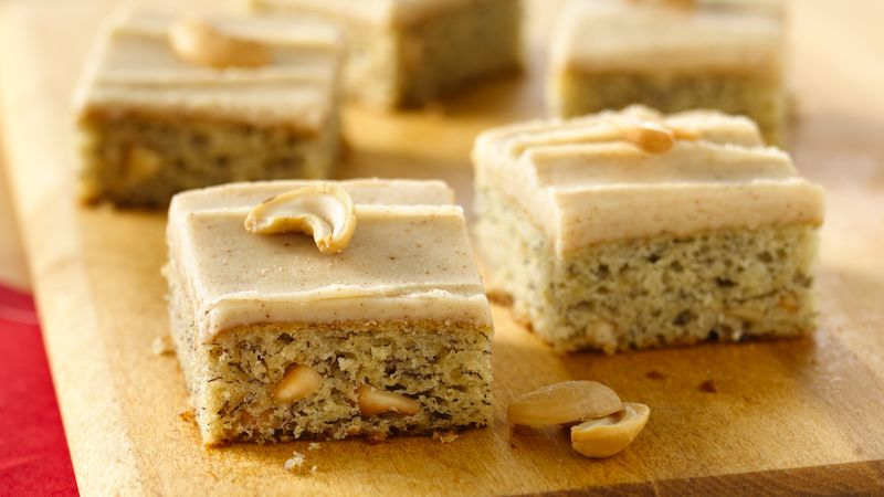 Banana-Cashew Bars with Browned Butter Frosting