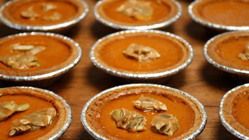 Mini Sweet Potato Pies and Pepita Toffee