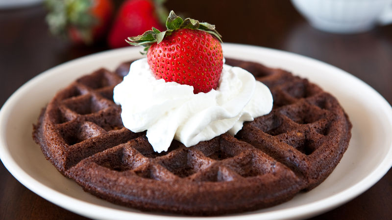 Brownie Batter Waffles