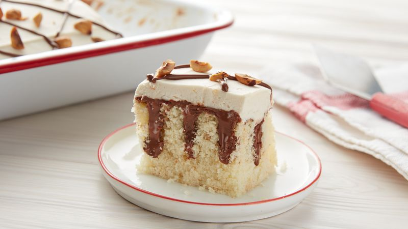 Poke Cake with Nutella® hazelnut spread