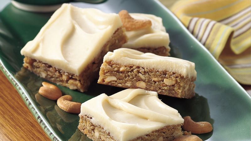 Fabulous Cashew Scotchies with Brown Butter Icing
