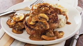 Steaks with Mushroom Gravy