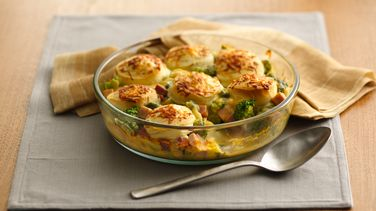 Ham and Broccoli au Gratin