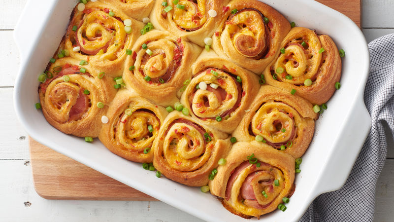 Hot Ham & Pimiento Cheese Crescent Roll-Up Sandwiches