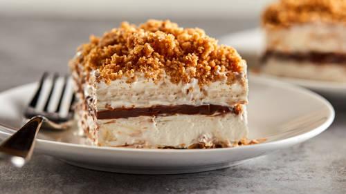 Frozen Smores Crunch Cake