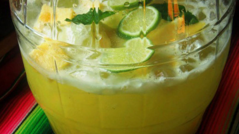 Pineapple Coconut Water Agua Fresca