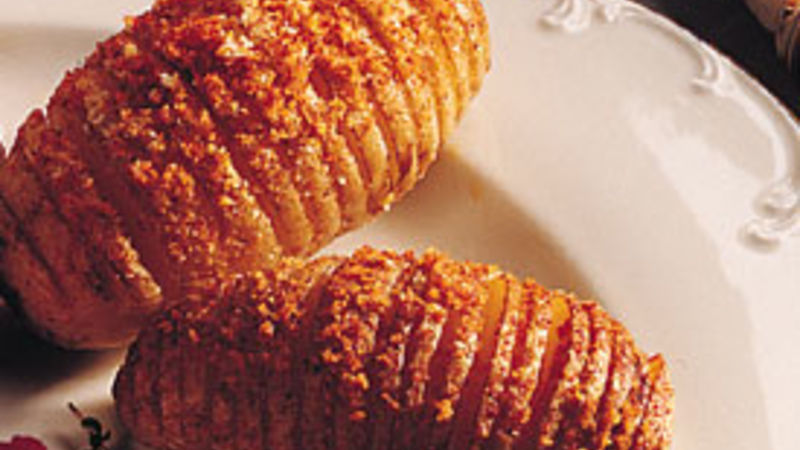 Swedish Hasselback Potatoes Recipe Bettycrocker Com