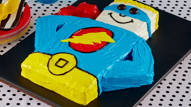 Birthday Cake Outline Printable ~ Superhero cake recipe bettycrocker.com