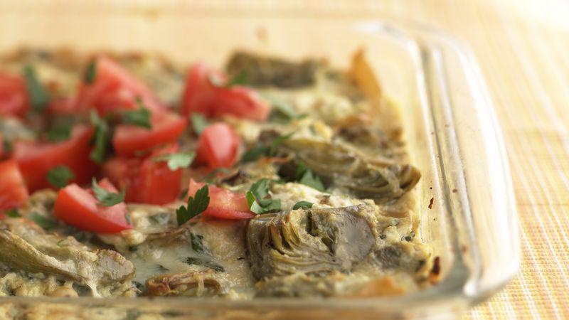 Skinny Creamy Ricotta-Artichoke Lasagna