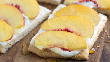 Peaches and Cream Flatbread