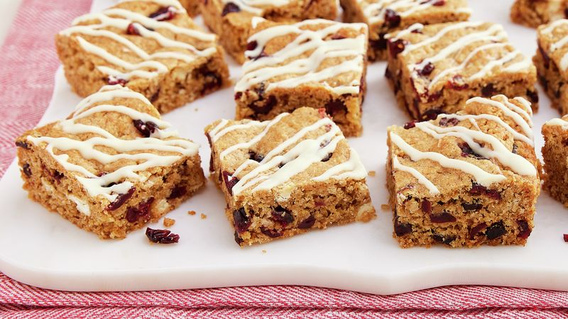 Oatmeal Cranberry White Chocolate Cookie Bars