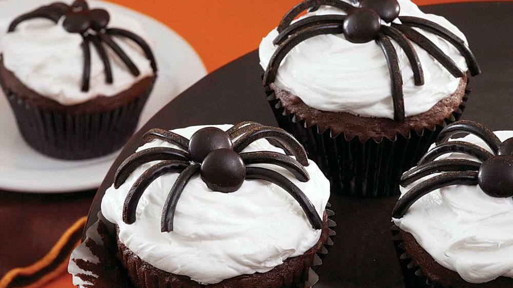 Black Spider Cupcakes Recipe From Pillsbury Com