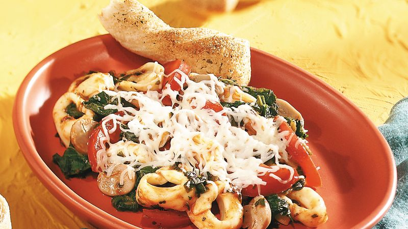 Red, White and Green Tortellini