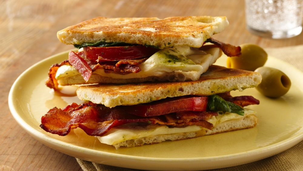 Bacon, Caesar and Mozzarella Panini