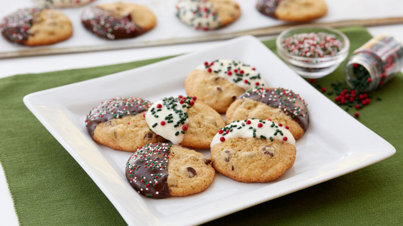 Chocolate Christmas Cookies.Easy Chocolate Chip Christmas Cookies Small Batch Quantity