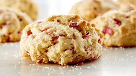 Rhubarb Drop Scones