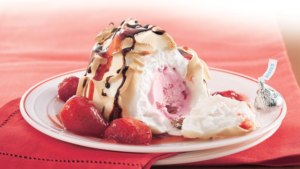 Double-Strawberry Baked Alaska