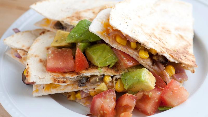Chipotle Turkey and Corn Quesadillas